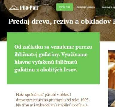 Predaj dreva, reziva a drevného obkladu od pila-pali.sk